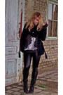 Black-deichmann-boots-navy-h-m-coat-black-leather-new-yorker-panties