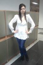 white F&F blouse