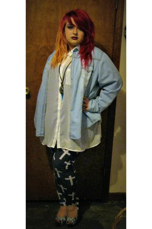 jean jacket paper tee jacket - cross leggings casa lee leggings