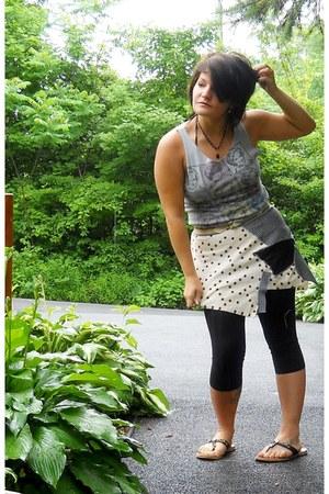 cream patchwork handmade RosMari Brand skirt - maroon skirt