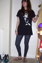 t-shirt - Topshop necklace - Topshop leggings - Topshop shoes - bracelet - Miss