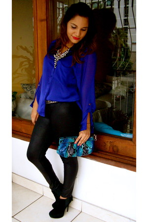 blue H&M blouse