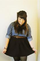 menswear H&M blouse - handmade skirt - vintage belt - handmade tie