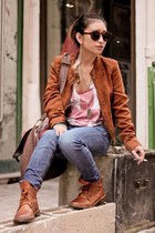 burnt orange Pimkie jacket - burnt orange clif boots