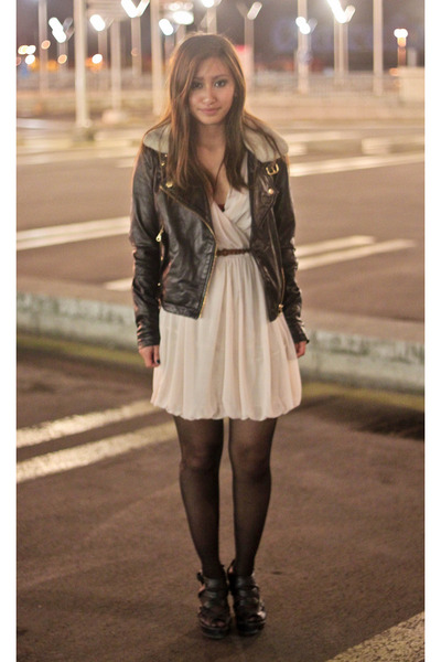 Neutral H&ampM Dresses Black Biker Jacket Asos Jackets | &quotgive me
