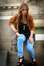 Dark-gray-amazone-shoes-bronze-pimkie-jacket