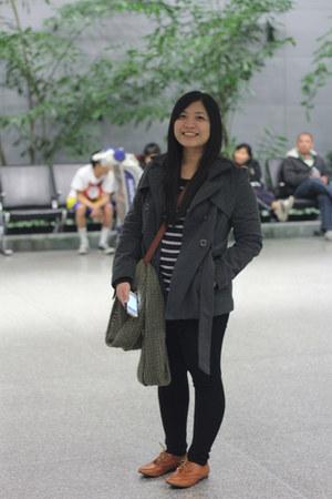 random brand panties - Shiekh shoes - Forever 21 coat - Gap shirt