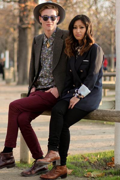 tawny clif boots - navy Yesstyle blazer