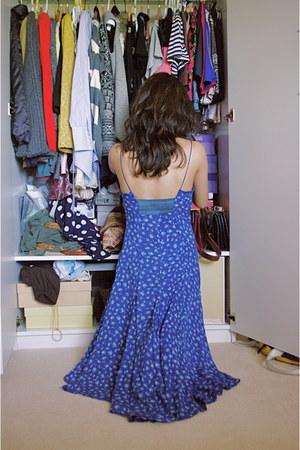 blue floral dress free people dress