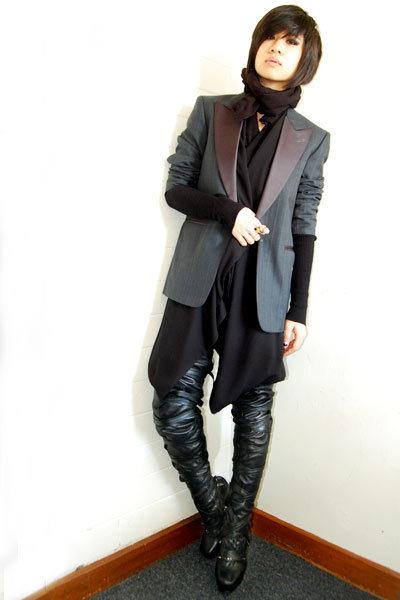 black Nicholas Kirkwood for Rodarte boots