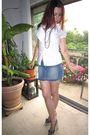 White-forever-21-blouse-blue-arizona-jean-co-skirt-blue-xhilaration-shoes-