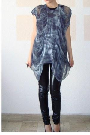 black ROUGE et NOIR t-shirt - gray - blue