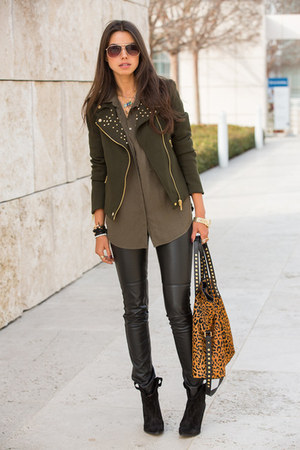 jacket - bag - sunglasses - blouse - heels - watch