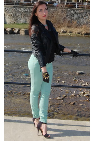 Zara jacket - Zara sandals - pull&bear pants - H&M necklace