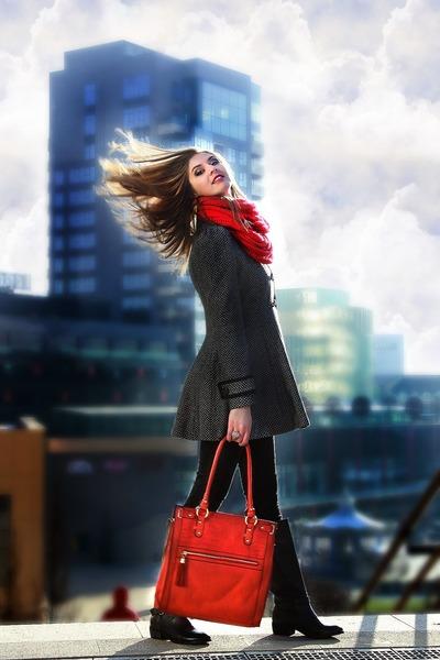 new look boots - new look jacket - new look scarf - new look bag