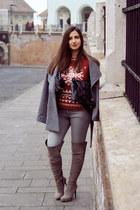 wool H&M coat - suede il passo boots - denim Cheap Monday jeans