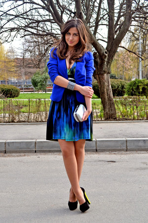 H&amp;M blazer - BSB dress - H&amp;M bag