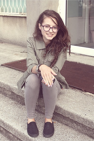 shoes - coat - leggings - watch