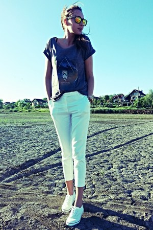 peppermint london top - white H&M pants