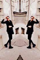 H&M blouse - fur Zara vest - New Yorker wedges