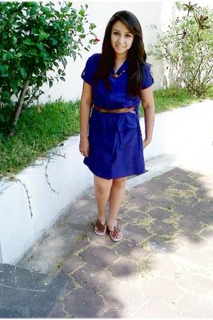 dress - calvin klein bag - Selena Gomez sandals - Bershka belt
