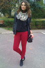Black-miss-alina-boots-ruby-red-bershka-jeans-black-random-brand-jacket