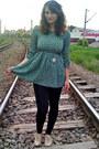Beige-oxford-shoes-aquamarine-cat-print-ebay-dress