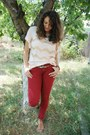 Ruby-red-bershka-jeans-bronze-puppy-mochi-beaucoup-belt-light-pink-h-m-top