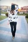 Silver-heart-ebay-ring-black-spiked-romwe-hat-black-velvet-romwe-leggings