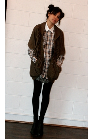 PAM jacket - H&amp;M dress - United Bamboo shirt - walgreens tights - Colonial Madne