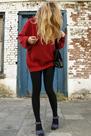 vintage jumper - H&M heels