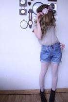 Zara shirt - vintage shorts - Zara heels