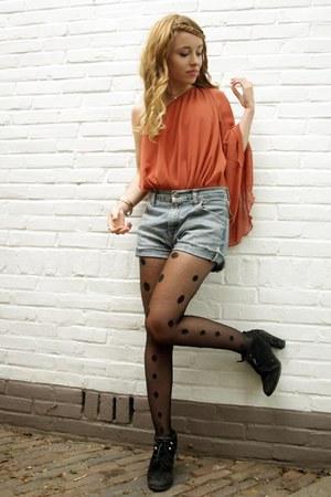 asos dress - vintage tights - vintage shorts