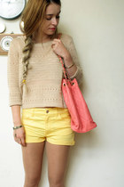 Primark bag - H&M shorts - H&M jumper