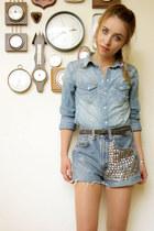 vintage shorts - H&M blouse