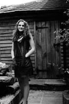 denim Next Jeans dress - black polka dots Silk scarf