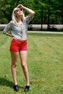 Ruby-red-kid-to-kid-shorts-white-delias-top-black-ankle-boots-bc-outerspace-
