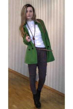calvin klein coat - Converse shirt - Zara pants - Jeffrey Campbell heels