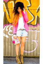 Christian Louboutin shoes - vintage Levis jeans - hot pink Zara blazer - Accesor