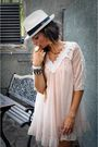 Pink-topshopop-dress-panama-hat-las-dalias-hippie-market-accessories