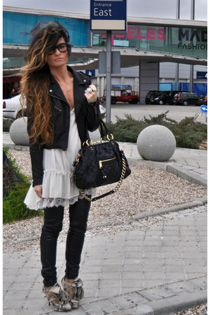 black perfecto Topshop jacket - piton Christian Louboutin shoes