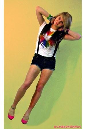 Wet Seal shirt - Forever 21 shorts - Paprika heels