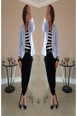 Zara blazer - Witchery heels - Only t-shirt
