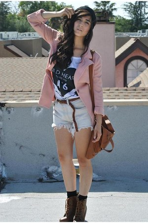 1 vintage pink blazer blazer