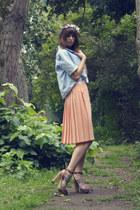 vintage skirt - Zara jacket - H&M heels