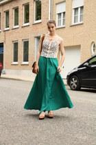 Mango skirt - VJ-style bag - River Island heels - H&M top