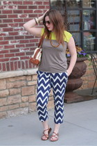 neon colorblock ann taylor shirt - ikat Old Navy pants