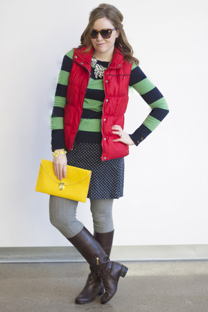 Vineyard Vines sweater - banana republic boots - Glamplaza purse