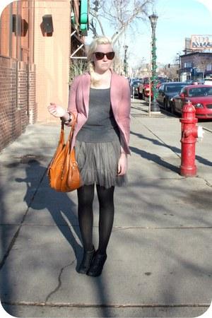 blush Forever 21 blazer - Kimchi Blue skirt - Maurices heels