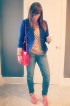 Cabi blazer - Gap jeans - banana republic sweater